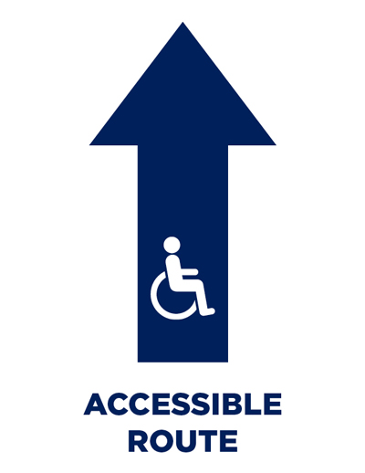 Download Accessible Route Sign