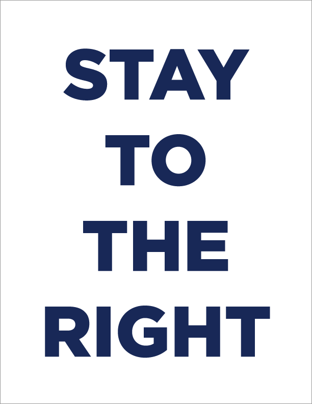 Download Stay Right Sign