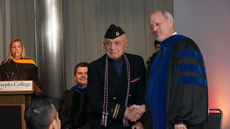 Michael Pope at the Military Graduate Recognition ceremony earlier this year.